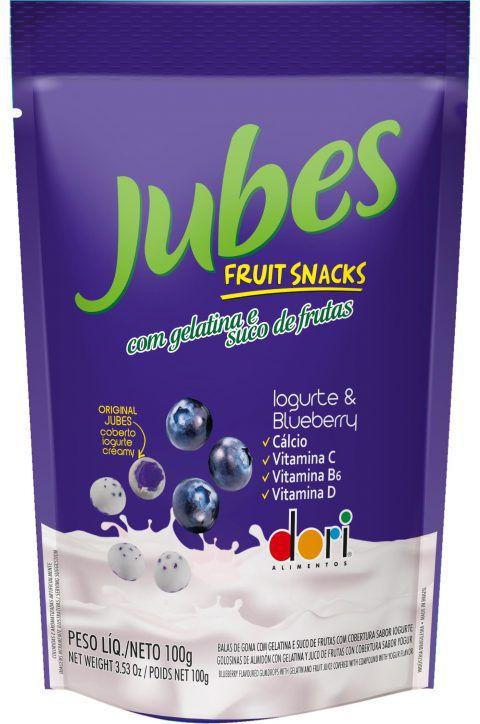 Dori - Jubes Fruit Snacks Iogurte Blueberry 100g
