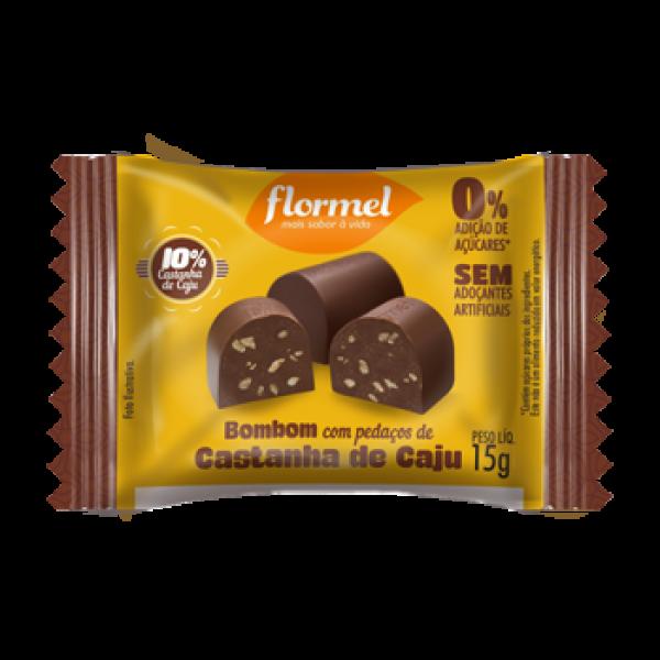 Flormel - Bombom com Pedaços de Castanha de Caju 15g