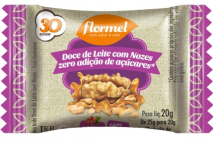 Flormel - Doce de Leite com Nozes Diet 20g