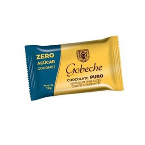 Gobeche - Tablete de Chocolate Puro Zero Açúcar 12g