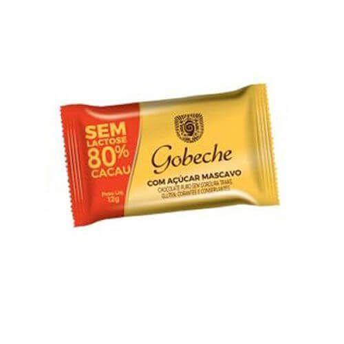 Gobeche - Tablete de Chocolate Sem Lactose 80% Cacau 12g