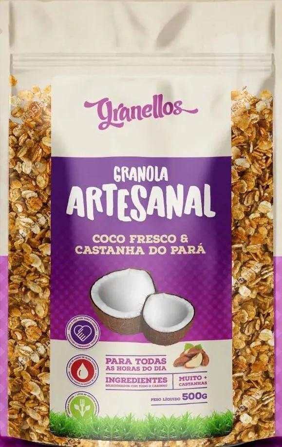 Granola artesanal Granellos Coco Castanha do Pará 500g