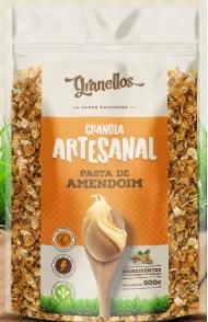 Granola artesanal Granellos Pasta de Amendoim e Cramberry 500g
