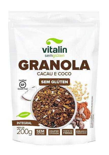 Granola Cacau e Coco Vitalin (200g.)