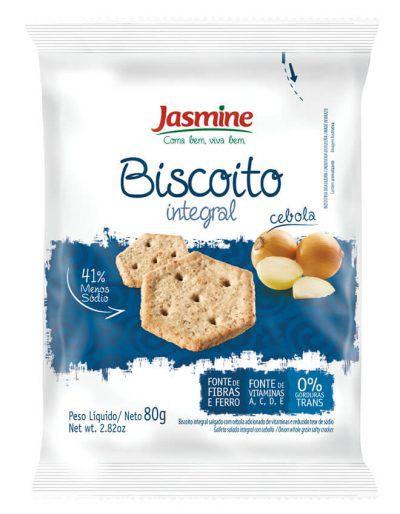 Jasmine - Biscoito Integral Cebola 80g