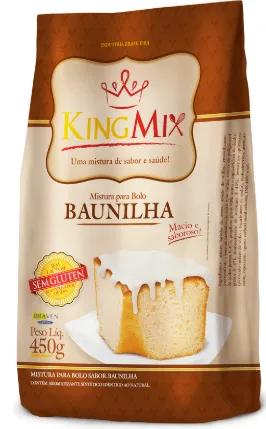 King Mix - Mistura para Bolo sem glúten sabor Baunilha  450g