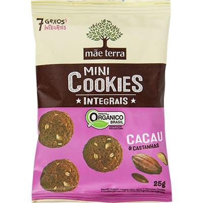 Mãe Terra - Mini Cookies Integrais de Cacau e Castanhas 25g
