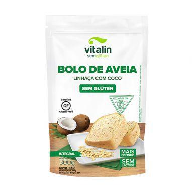 Mistura para Bolo de Aveia Linhaça com Coco- Vitalin 300g.)