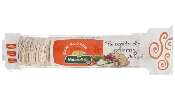 Natural Life - Biscoito de Arroz Integral 80g