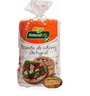 Natural Life - Biscoito de Arroz Sementes e Açafrão 80g