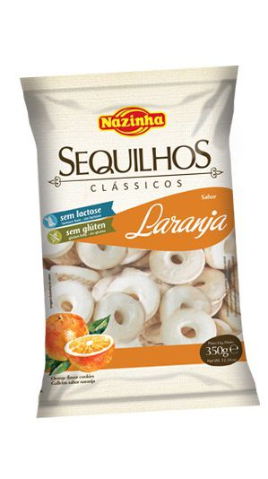 Nazinha - Sequilhos Clássicos sabor Laranja 350g