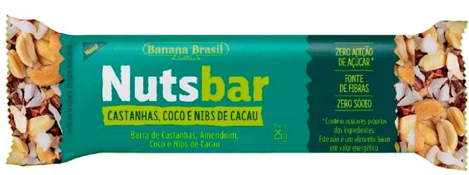Nutsbar - Barra de Castanhas, Coco e Nibs de Cacau 25g