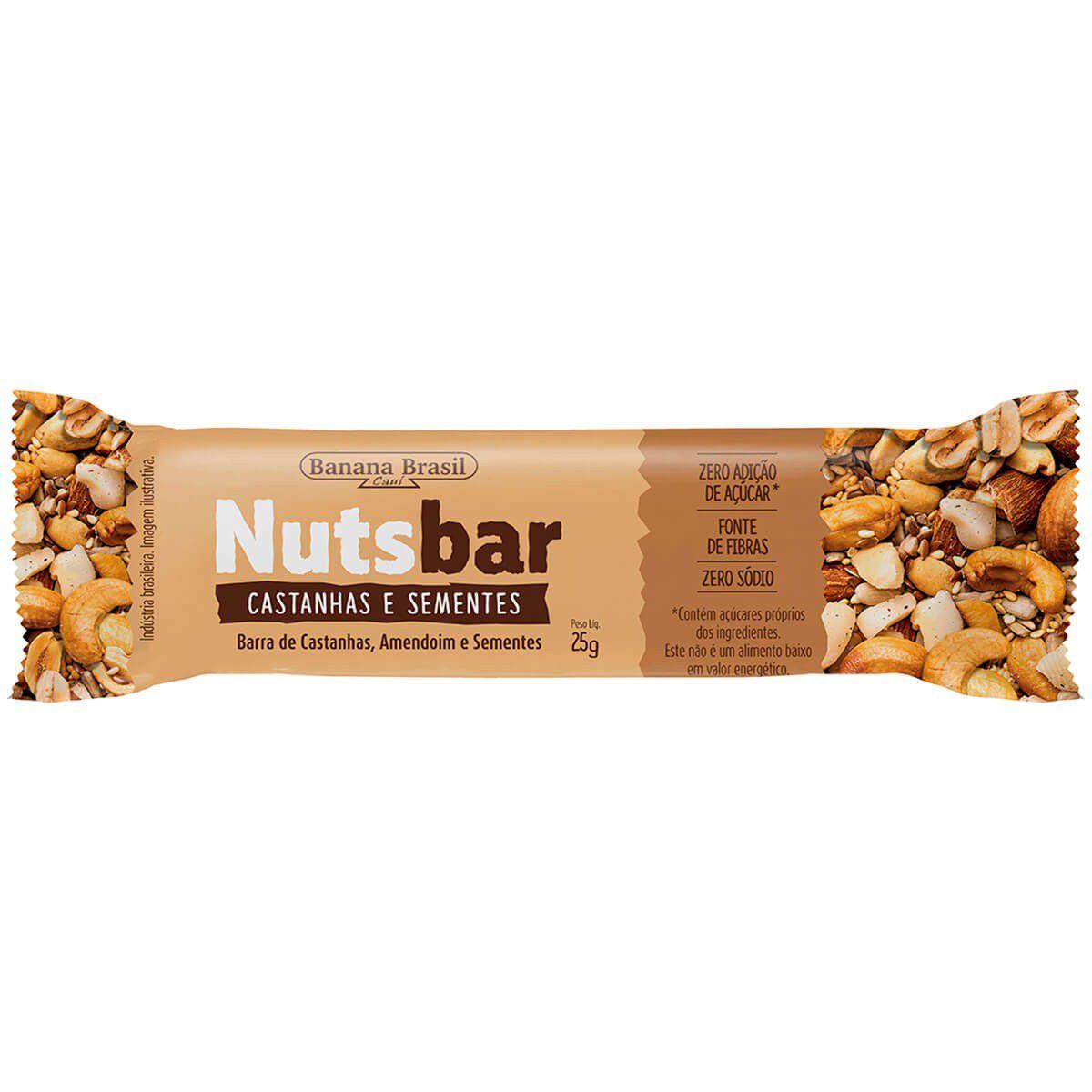 Nutsbar - Barra de Castanhas e Sementes Diet 25g