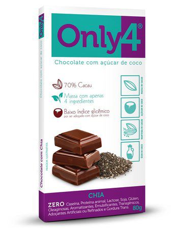 Only 4 - Tablete de Chocolate Chia 80g