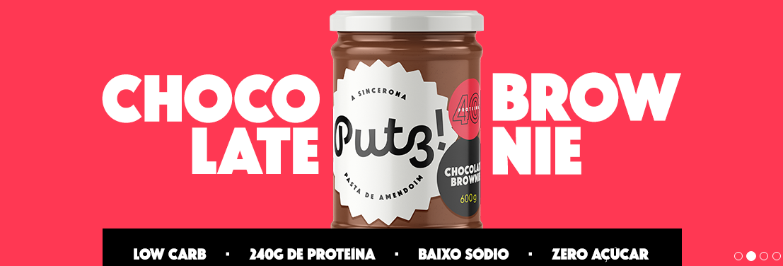 Putz - Pasta de Amendoim Chocolate Brownie 600g