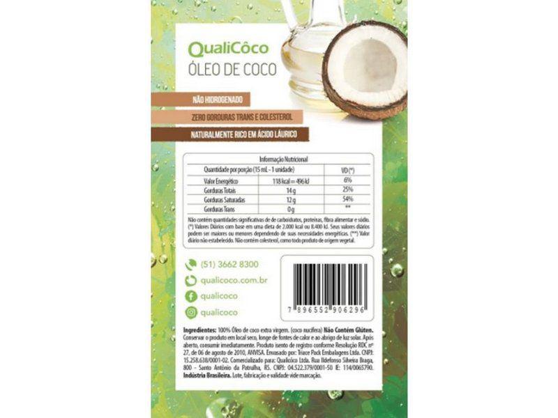 QualiCôco - Sachê Óleo de Coco 15ml