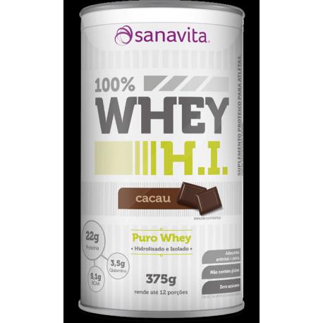 Sanavita - 100% Whey H.I. Cacau 375g