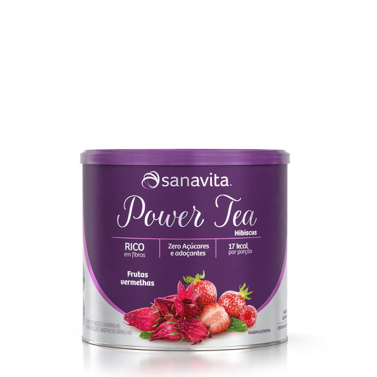 Sanavita - Chá Hibiscus sabor Frutas Vermelhas 200g