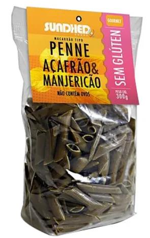 Sundhed - Macarrão Penne Açafrão e Manjericão 300g