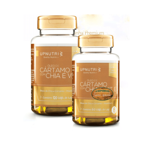 Upnutri - Óleo De Cártamo + Chia + Vitamina E 1000mg