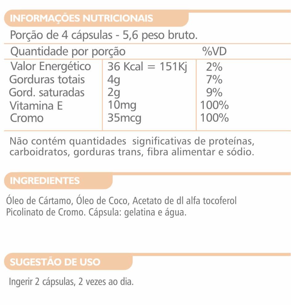 Upnutri - Óleo De Cártamo+Coco+Picolinato De Cromo + Vit. E  1000mg