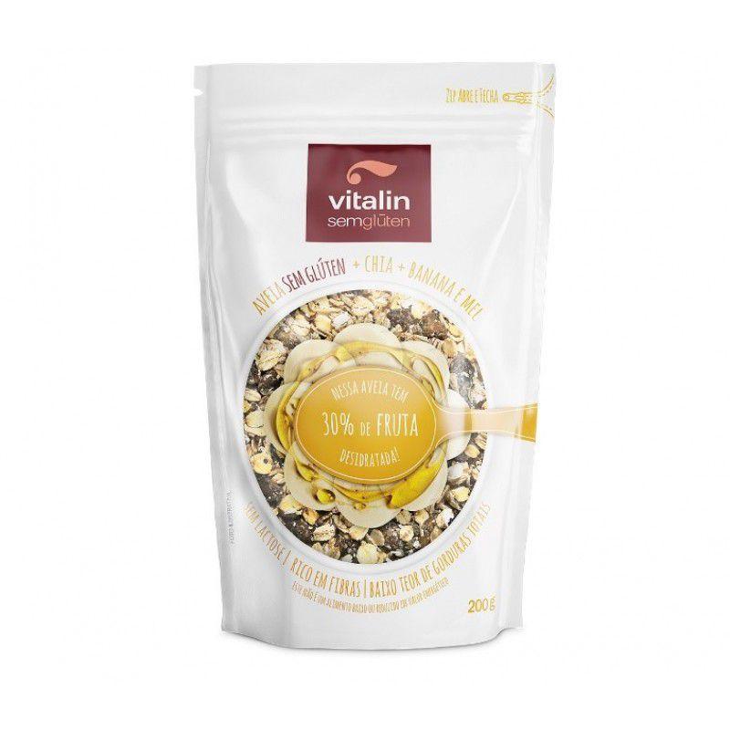 Vitalin - Aveia com Chia + Banana e Mel + 30% de Fruta Desidratada 200g
