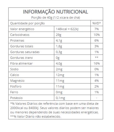 Vitalin - Aveia Flocos sem glúten Quinoa e Frutas Vermelhas 200g