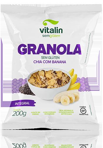 Vitalin - Granola Chia com Banana 200g