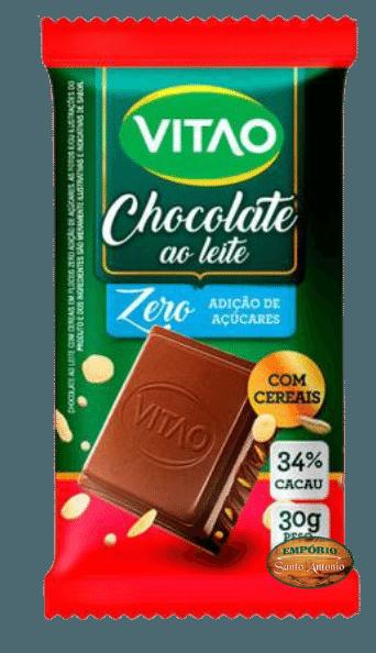 Vitao - Chocolate ao Leite  - Zero Açúcar 30g