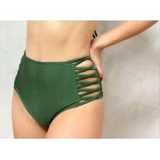 Hot Pants Lateral Verde Metalizado