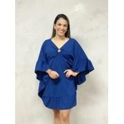Kafta Argola Babados Azul