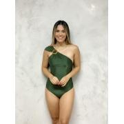 Maiô Ombro Acessório Verde Metalizado