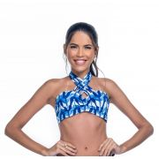 Top Bojo Inteiro Strappy  Moulin Print