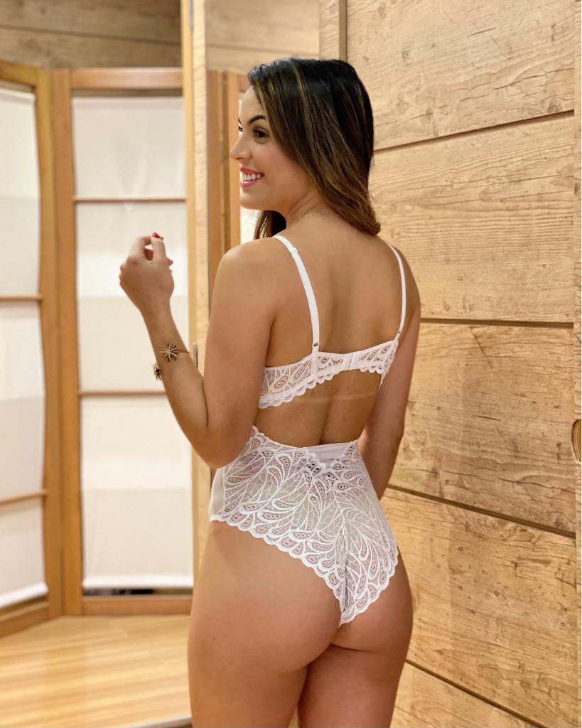 Body Tule Renda Branco   - RMCE BRAZIL