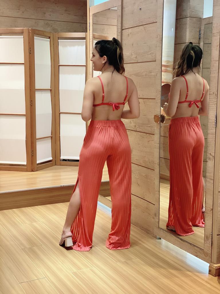Calça Pantalona Fendas Pitanga  - RMCE BRAZIL