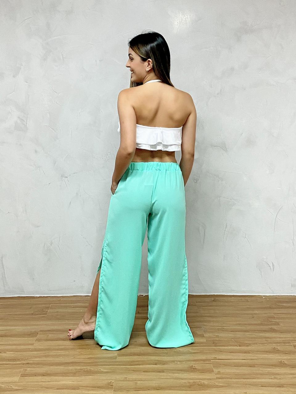 Calça Pantalona Fendas  - RMCE BRAZIL