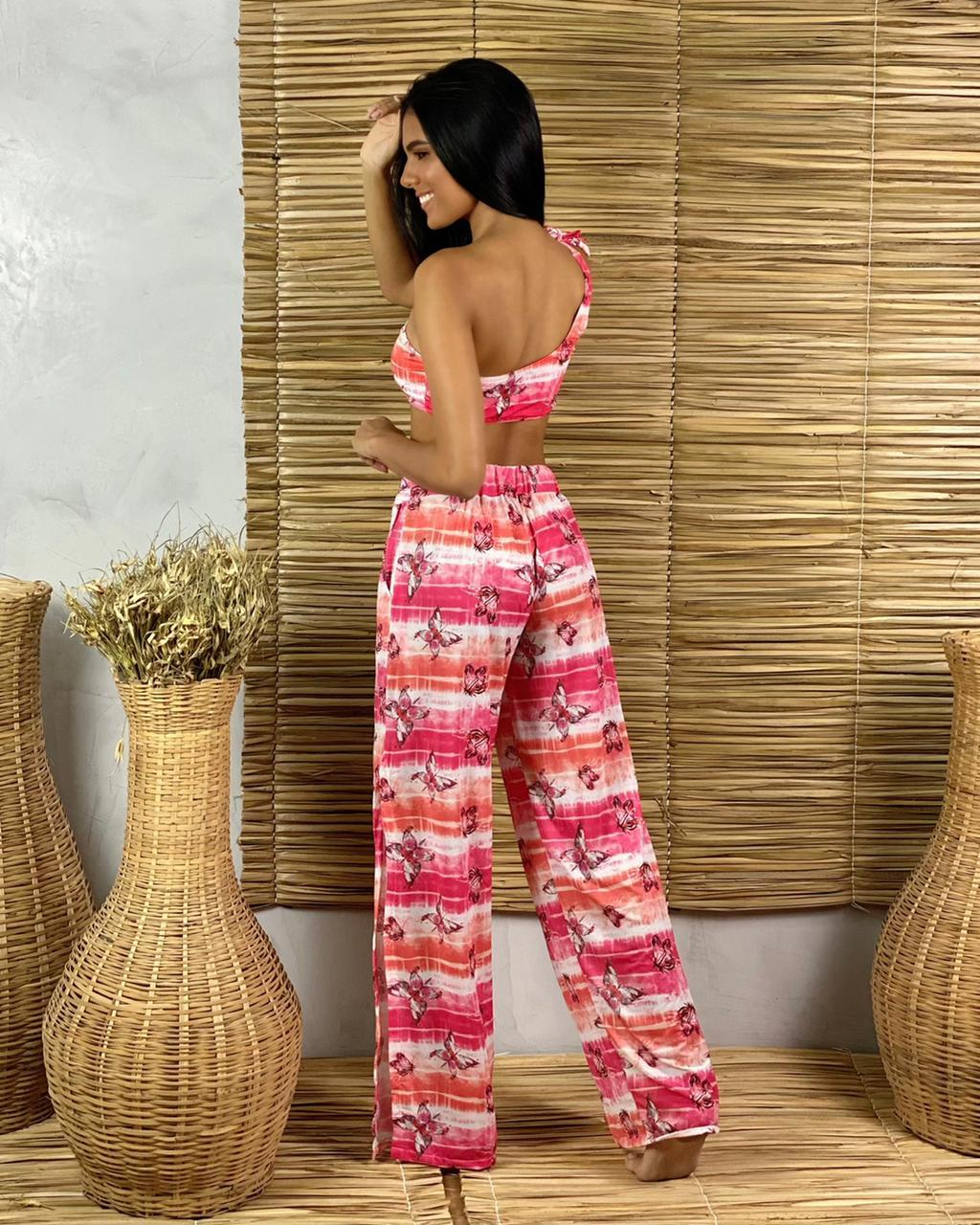 Calça Pantalona Fendas Butterfly  - RMCE BRAZIL