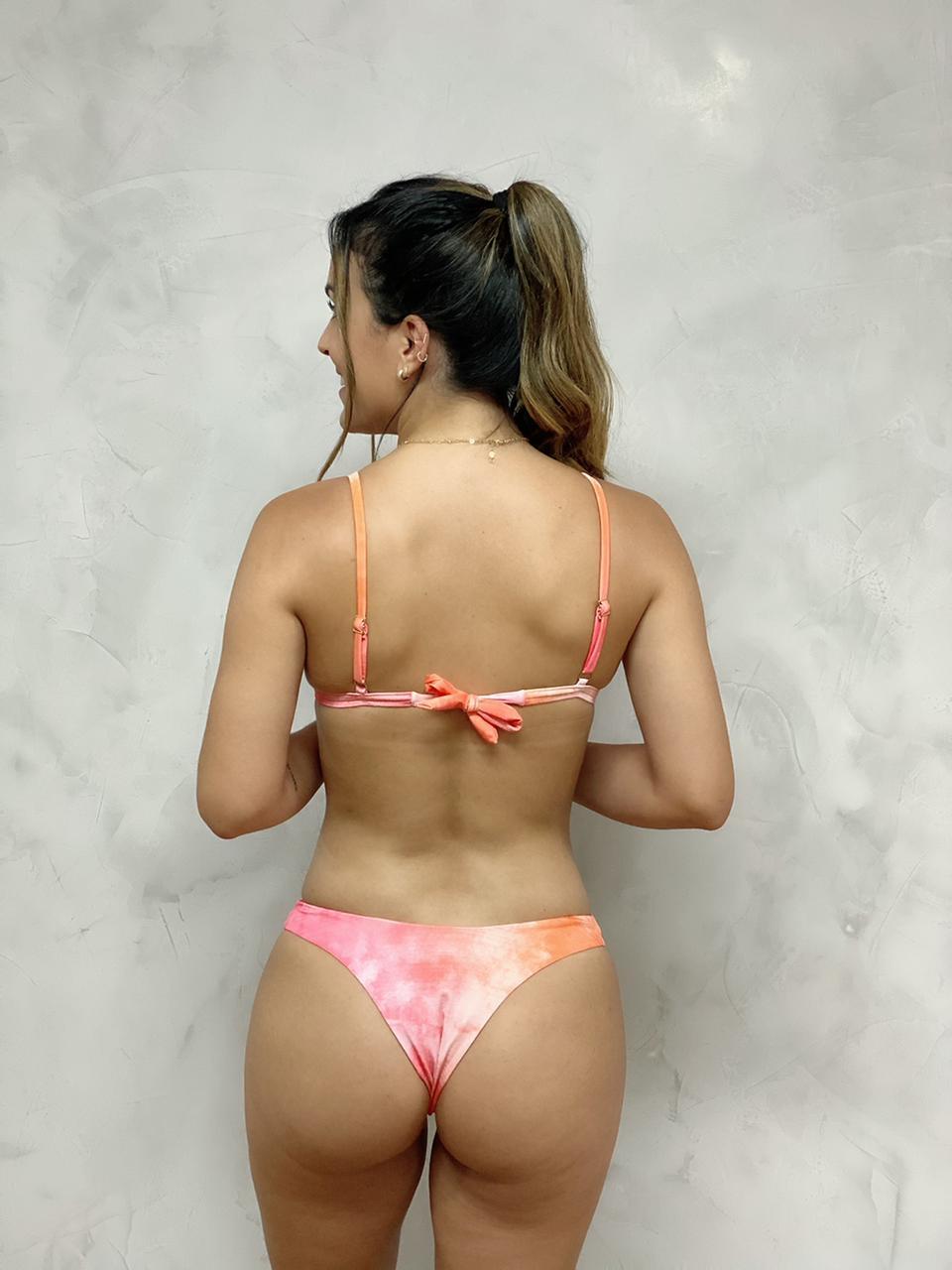 Calcinha Asa Delta Dupla Tie Dye   - RMCE BRAZIL