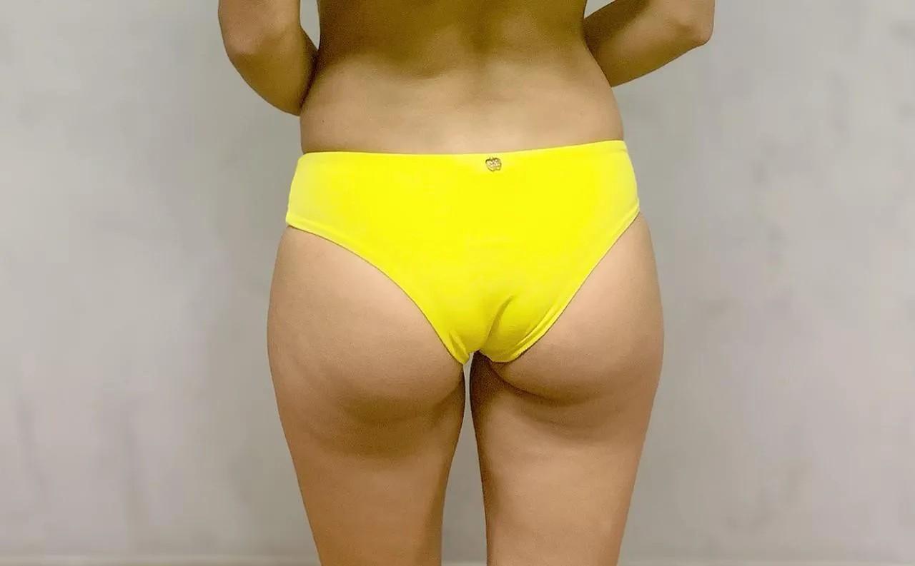 Calcinha Biquíni Dupla Aberta Amarela   - RMCE BRAZIL