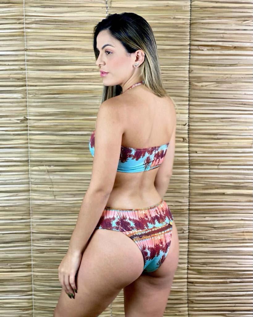 Calcinha Biquíni Larga Dupla Sunrise  - RMCE BRAZIL