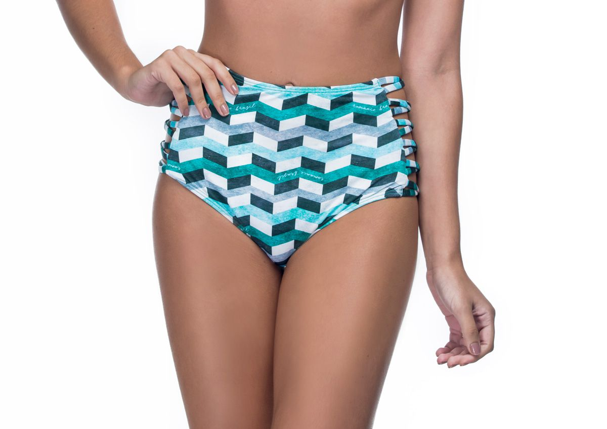 Calcinha Hot Pants Lateral Cruzada Infinite Green   - RMCE BRAZIL