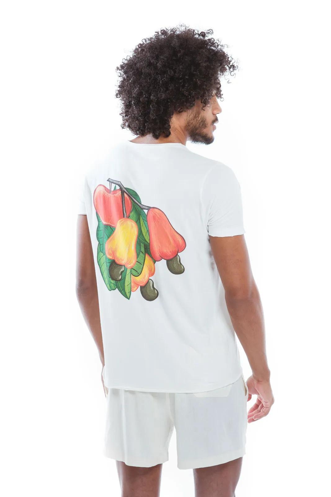 Camiseta Gola Fio Cajú Maçã   - RMCE BRAZIL