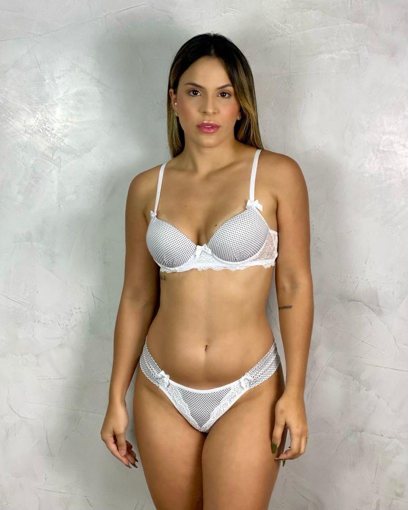 Conjunto Bojo Poá Tanga Branco