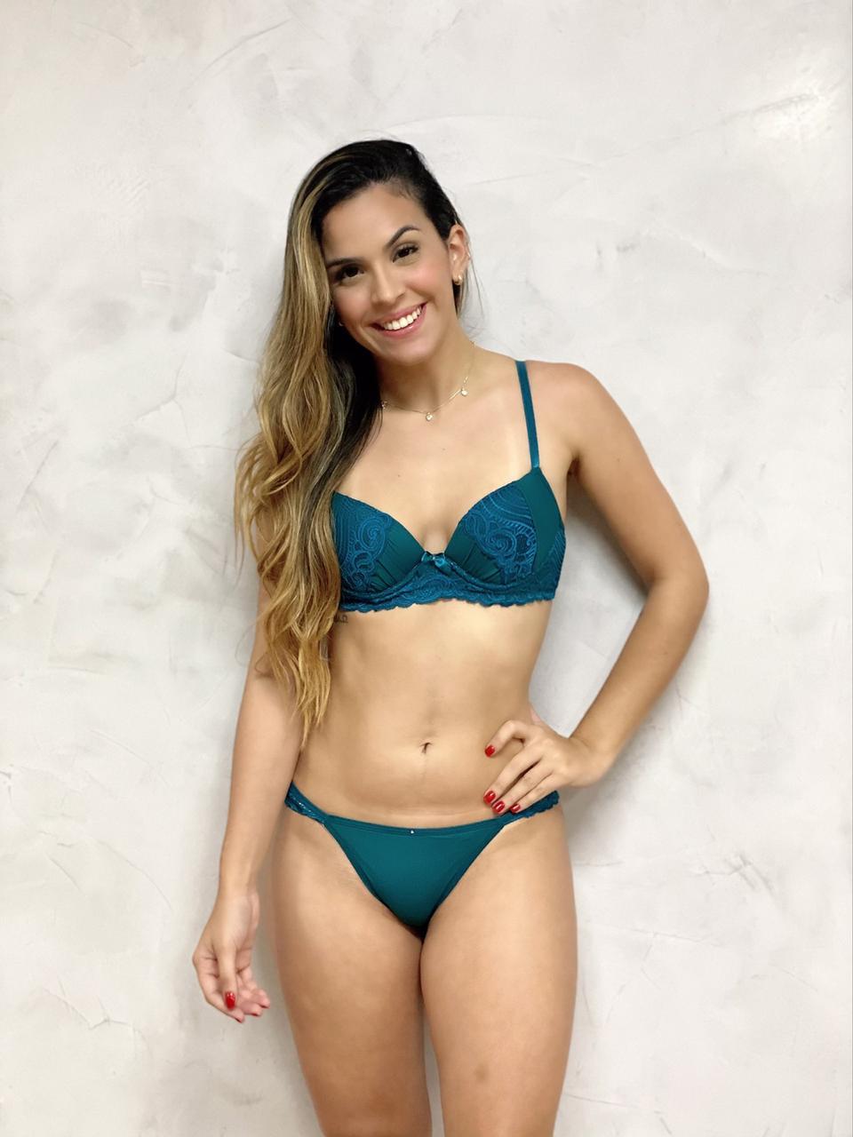 Fio Dental Detalhe Lateral Verde  - RMCE BRAZIL