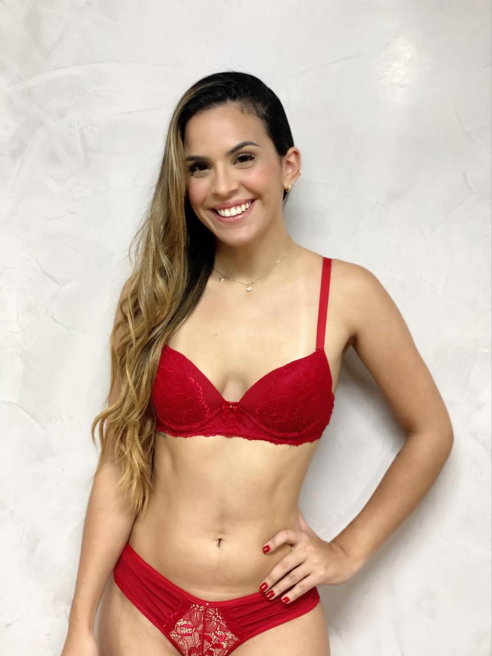 Fio Dental Renda Vermelha   - RMCE BRAZIL