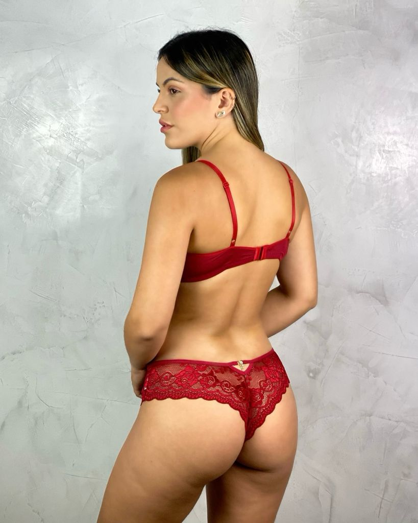 Fio Renda Pingente Vermelha  - RMCE BRAZIL