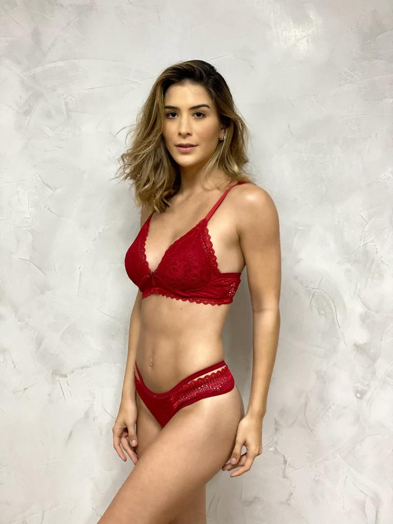Fio Strappy Renda Vermelha  - RMCE BRAZIL