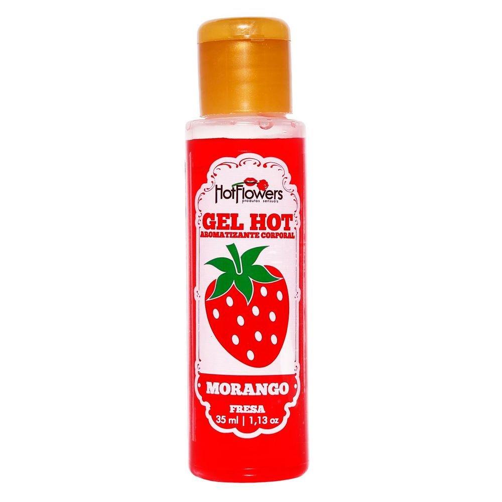 Gel Comestível Hot Morango