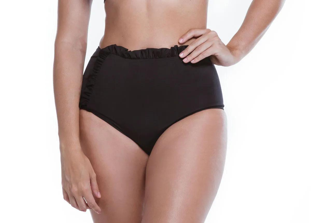 Hot Pants Babado Preto   - RMCE BRAZIL