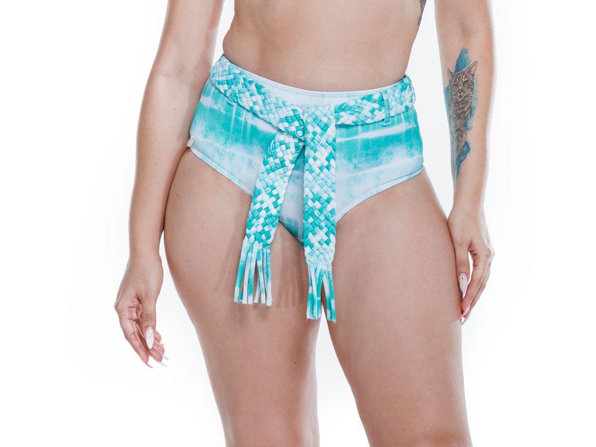 Hot Pants Cinto Trama Tie Dye